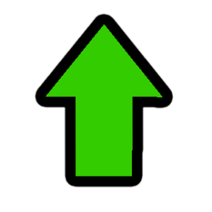 seta verde cima